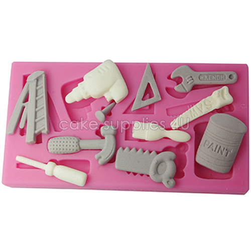 Wholesale kit set tools for boys Design Silicone Fondant Cake Mold chocolate moulding tools 3d cup cake decorating mold(China (Mainland))