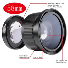 Buy Neewer 58MM 0.35X Super Fisheye Wide Angle Lens Lens Cover Canon Rebel T5i, T4i, T3, T2i, T1i, XTi, XT, XSi, XS, SL1 for $18.19 in AliExpress store