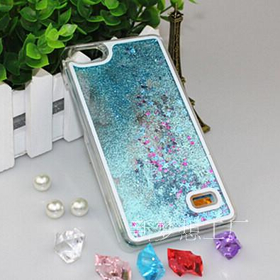 4C Glitter Quicksand Clear Case For Huawei Honor 4C 4 C Deluxe Bling Star Crystal PC Transparent Hard Phone Back Cover(China (Mainland))