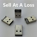 10pcs lot USB 2 0 4Pin A Type Male Plug SMT Connector Black G49 for Data