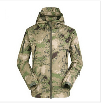 TAD V 4.0 Men Lurker Shark skin Soft Shell Outdoor Hunting Camping Waterproof Windproof Jacket Tactical Sports Army Clothing(China (Mainland))