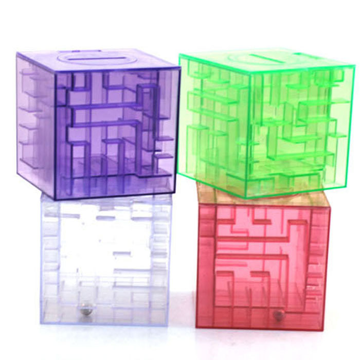 Promotion free shipping new fashion money maze coin box for Maze coin bank