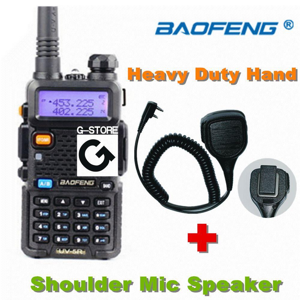 BAOFENG UV-5R Walkie Talkie VHF/UHF Dual Band portable Radio Handheld Tranceiver+ High quality Heavy Duty Hand/Shoulder Speaker(China (Mainland))
