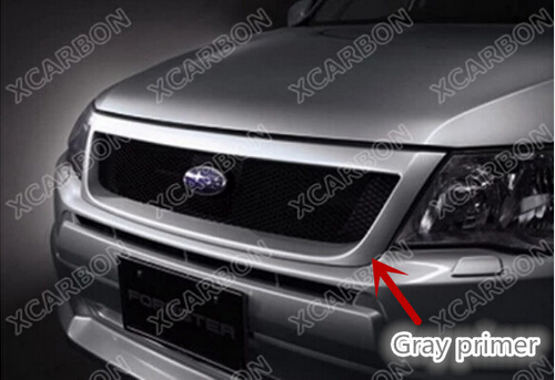 TOP Quality ABS Gray Primer Car front bumper Mesh Grille Around Trim Racing Grills For Subaru Forester TSI 2009 2010 2011 2012(China (Mainland))