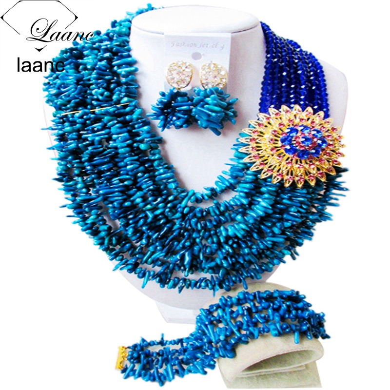 Nigerian Wedding African Coral Beads Jewelry Sets (25)