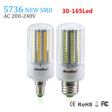 SMD 5736 Chip E27 Led Lamp Light 3W 5W 7W 9W 12W 15W E14 Led Bulb 220v Lampada Led Candle Light Brighter Than 5733 5730 For Home(China (Mainland))