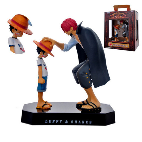 hot Anime One Piece Action Figure Monkey D Luffy &amp; Shanks Red-Haired Boxed PVC Action Figure Collection Model Toy <br><br>Aliexpress