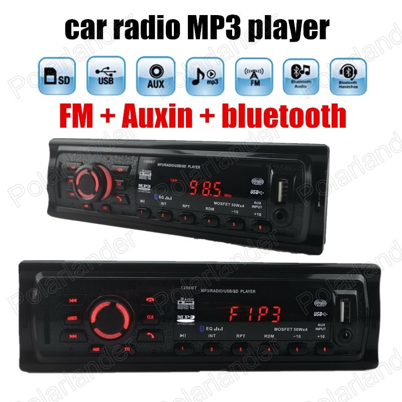 Hot sale Universal 1 din size car radio FM MP3 Stereo Auxin with USB Port and SD Card Slot bluetooth remote control(China (Mainland))
