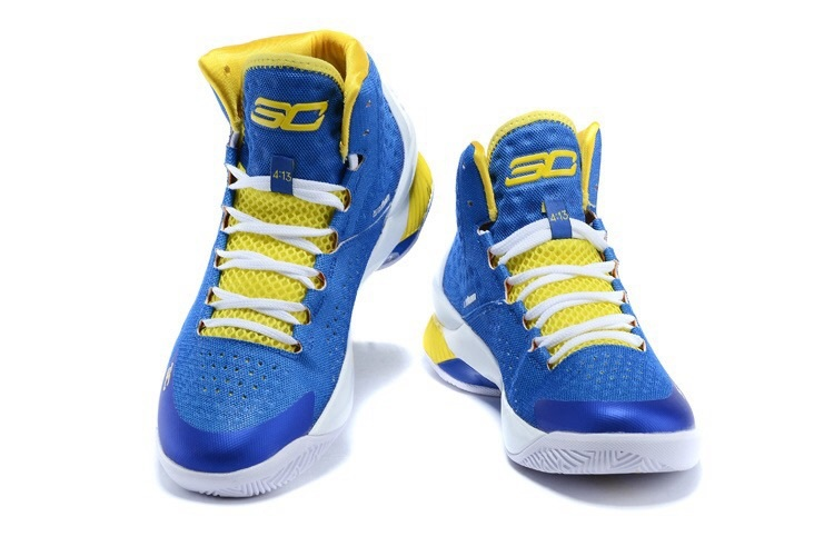 2015 MVP Stephen Newest Mens Brand Basketball Shoes Sneakers Of Curry 1st Lace-Up Free Shipping Blue Yellowwhite Color(China (Mainland))