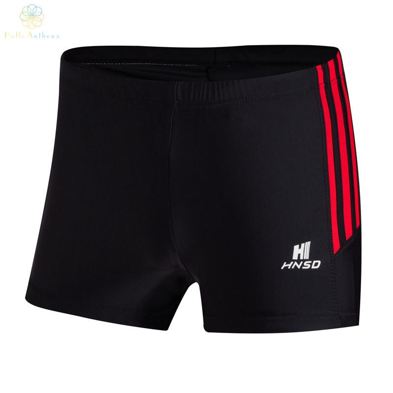 2016 Top Quality Men Swimwear Spandex Sunga Swimming Trunks Slim Boxer Swimming Shorts Front Tie Water Black(China (Mainland))