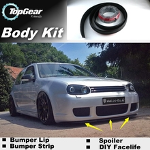 Bumper Lip Deflector Lips For Volkswagen VW Gol Parati Pointer Saveiro Voyage G2 G3 G4 G5 Spoiler Skirt / Body Kit / Strip(China (Mainland))