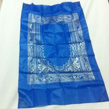 300pcs/lot  Hot Sale Islamic Pocket Size Prayer Mat With Compass Satin Muslim Prayer Rug for Qibla Wholesale Manufacturer