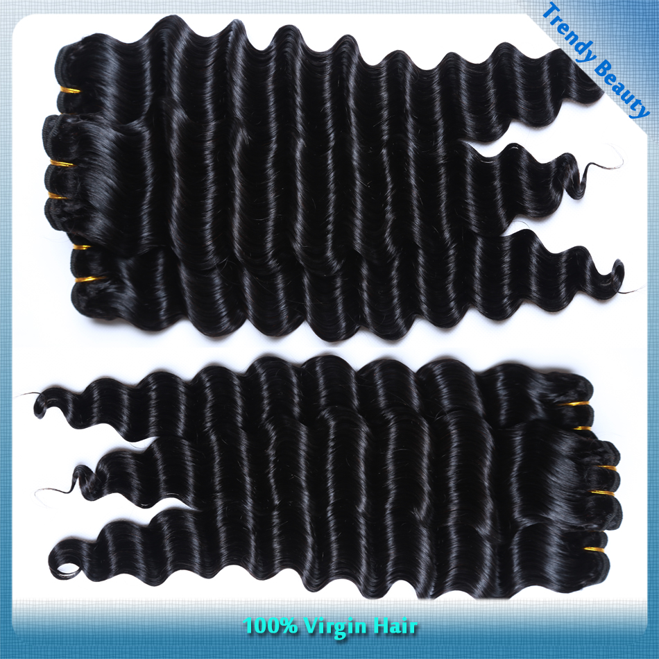 unprocessed deep wave malaysian virgin hair weaves customized 7 bundles per lot no tangle no shedding <br><br>Aliexpress