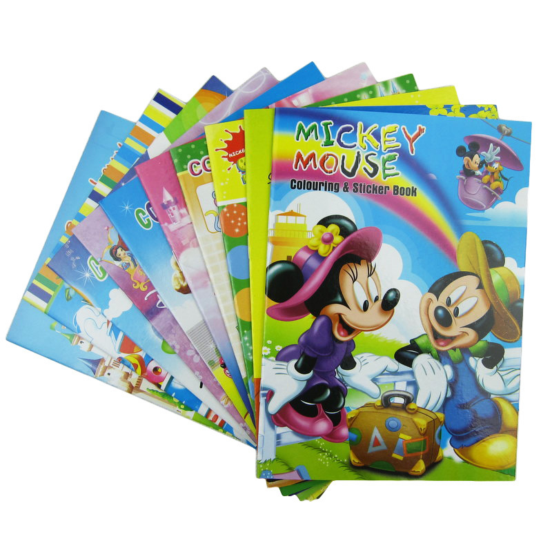 Kids Coloring Book Children Drawing Sketch Painting Graffiti, Large size: 19.7*14CM ( 7.75*5.5inch ) Random Designs(China (Mainland))