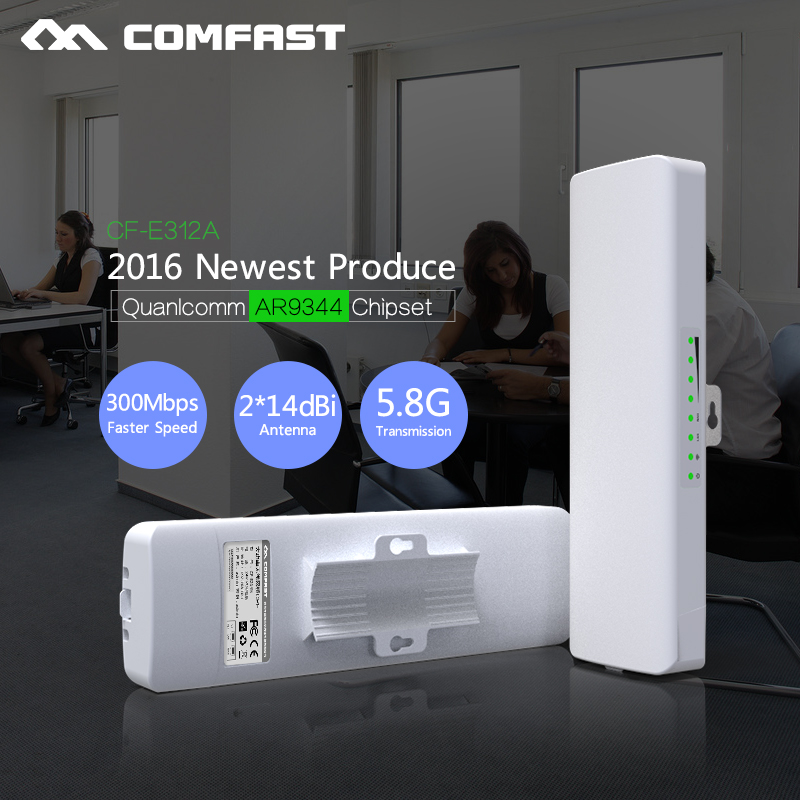 300Mbps Outdoor Access Point 5.8G waterproof 14dBi Antenna wifi wireless network CPE Nanostation COMFAST router Wi FI repeater(China (Mainland))