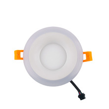 High Quality 6w+3w Planar Round Ceiling Panel Down Light White Lamp Blue Ray(China (Mainland))