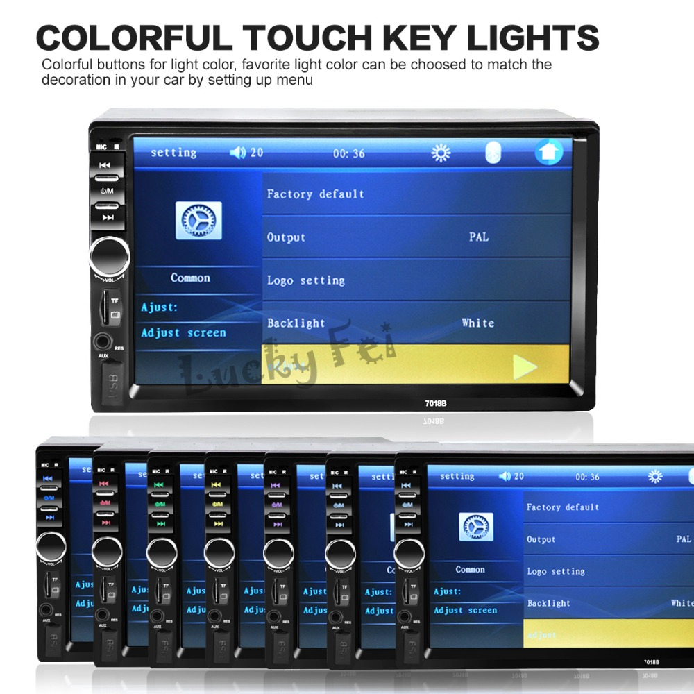 2016 New 2 Din 7 inch LCD Touch screen car radio player support BLUETOOTH hands free