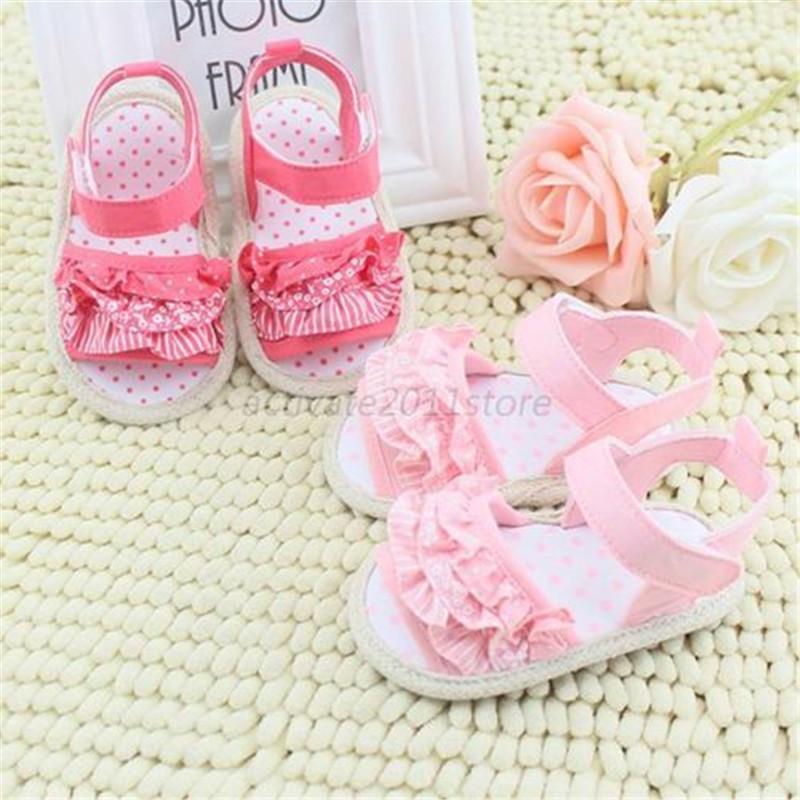 Princess Girl Summer Sandal Infant Baby Lace Soft Sole Non-slip Crib Shoes 0-18M PY1 P61