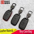 KUST High Quality Genuine Leather Car Key Bag Case For Tucson 2016 SUV Key case for