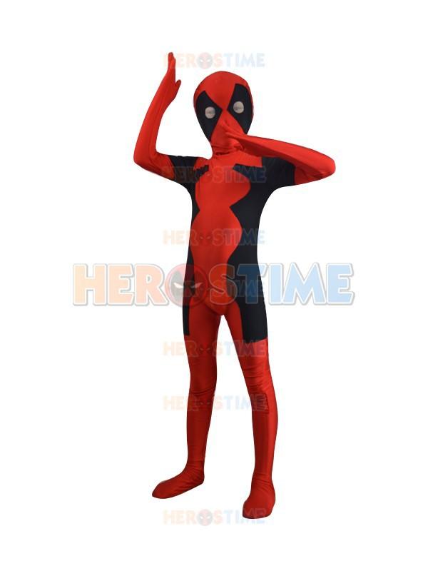 Manufacturer Sale Child Newest Hot Deadpool Spandex Superhero Costume free shippingОдежда и ак�е��уары<br><br><br>Aliexpress