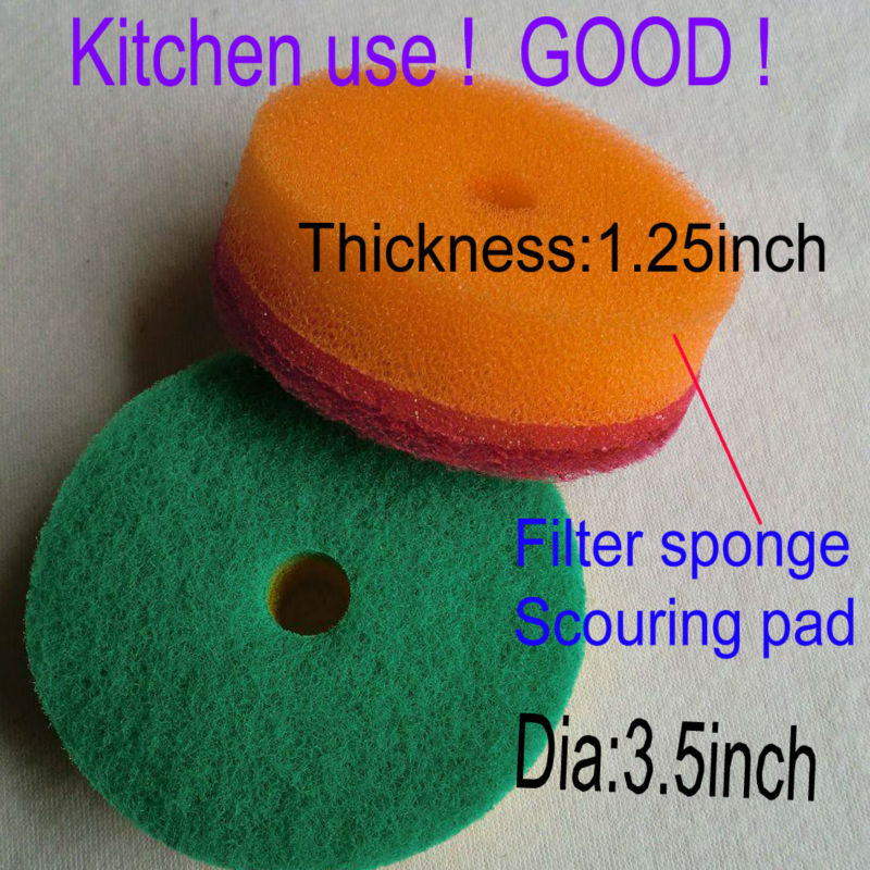 Kitchen Cleaning Sponge Colorful Scouring Pads Dish Washing Scourer Brush Small Wipes 9X3cm 15pcs/lot(China (Mainland))