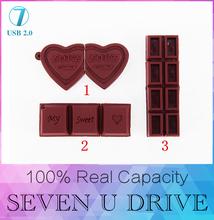 Chocolate de Silicona USB Flash Drive 512 GB Pen Drive Tarjeta de Memoria Pendrive Stick Microdatos 64 GB 32 GB 16 GB 8 GB 4 GB 2 GB 128 GB USB 2.0