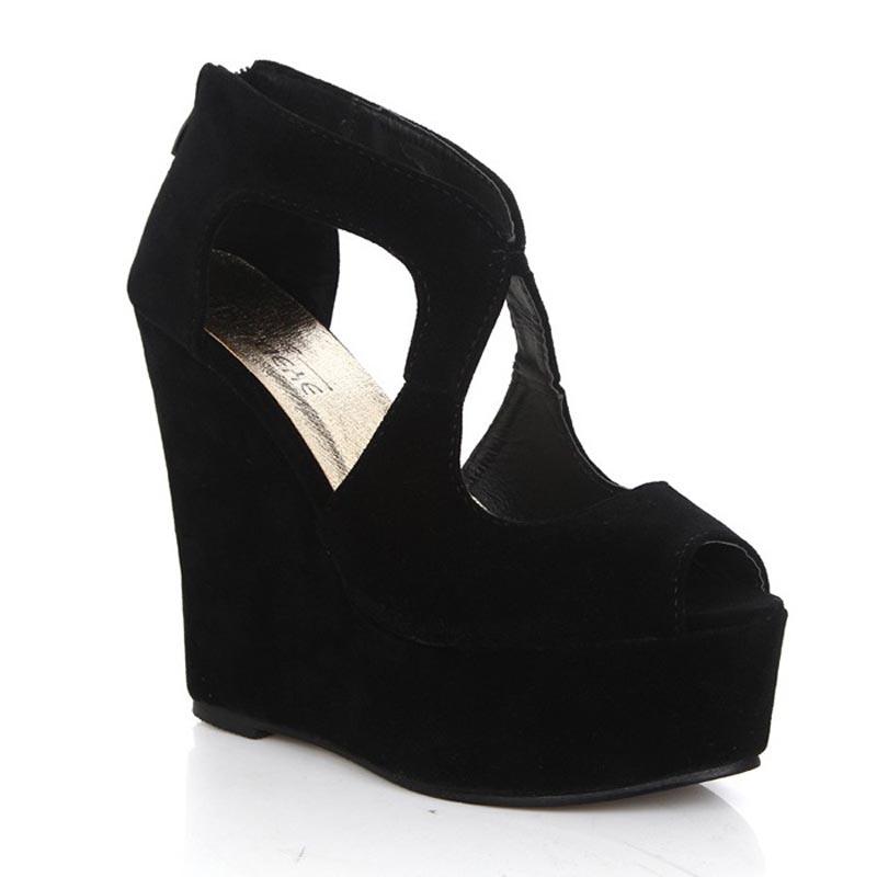 New 2014 wedge sandals sexy high heel sandals fashion Roman style fish head shoes women sandal sandalias mujer sandales femmes <br><br>Aliexpress