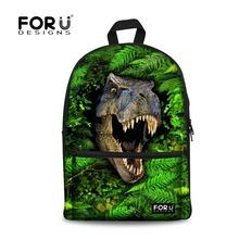 Buy Trendy 3d zoo animal tiger men's backpacks bagpack dinosaur print backpack school teenage boys leisure laptop mujer knapsack for $24.79 in AliExpress store
