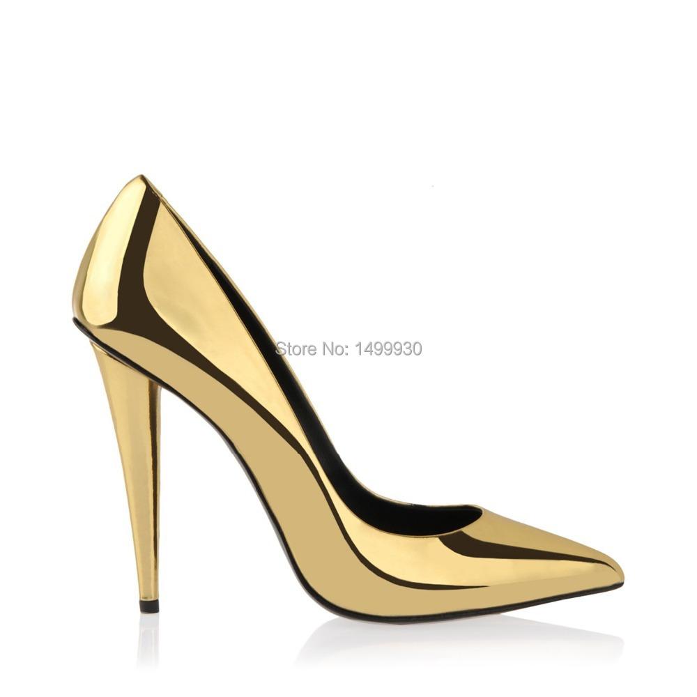 Cheap Gold Shoes Heels