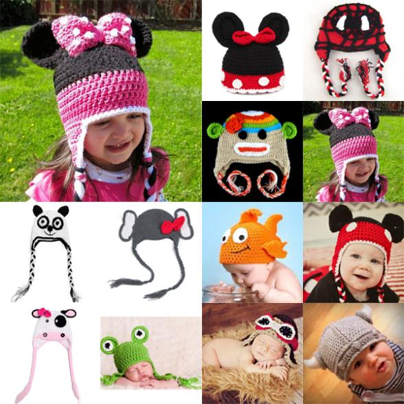 Lovely Baby Infant Newborn Animal Knit Costume Photography Prop Crochet Beanie Hat(China (Mainland))