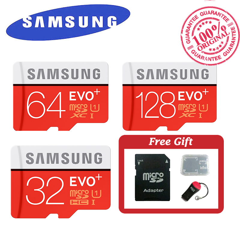 SAMSUNG EVO+ Memory Card 32GB 64GB 128GB SDHC SDXC Max 80M/s MicroSD UHS-I Class 10 Micro SD C10 Trans Flash Mikro Card TF(China (Mainland))
