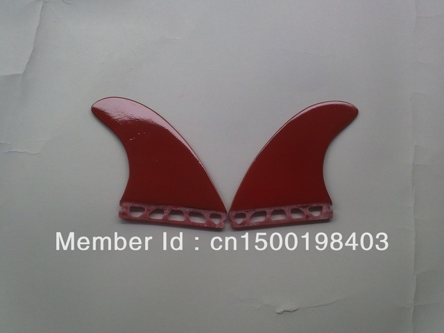Future/G5/Surfboard fins/Fins/Fiberglass materials/Matte red/2 pcs per set/Professional/High quality/Competitive price