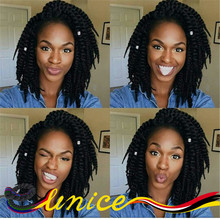 Top Quality Short Marley Twists 12″ Synthetic Braids Havana Mambo Twist Braiding Hair Extension 12strands Per Pack Free Shipping