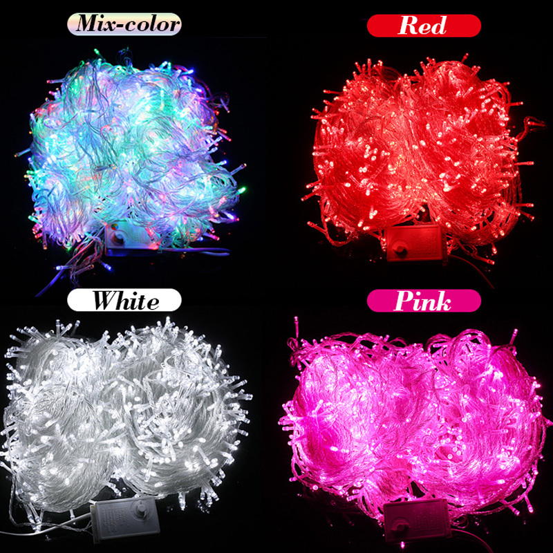 Hot Sale 100 LED 8M String Light Christmas/Wedding/Party Decoration Lights Lighting AC 110V 220V ...