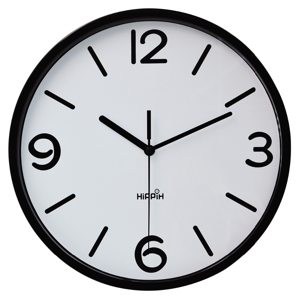 Hippih 10 inches plastic wall clock modern silent clocks new arrival saat clo - Horloge murale decorative ...