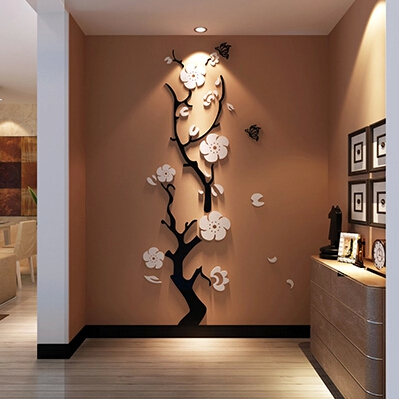 Free shipping New 3D Vinyl Wall stickers for bedrooms DIY Wallpaper Art Decals Home decor wall stick(China (Mainland))