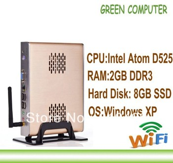 2013 Latest Wireless X86 Mini Computer Thin Client Thin Station with Atom D525 processor Dual-Core 1.8G and 2GB RAM