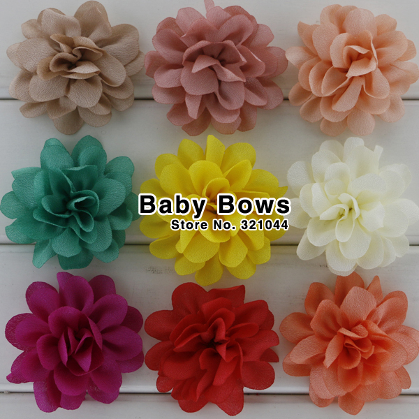 100pcs 2.2'' Baby Girls Boutique Chiffon Flowers,Fabric Hair Flowers For Corsage/Weeding/Garment/Hair Accessories Free Shipping(China (Mainland))