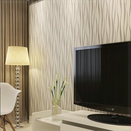 Pvc embossed modern wallpaper 3d background wall wallpaper for Modern 3d wallpaper for bedroom