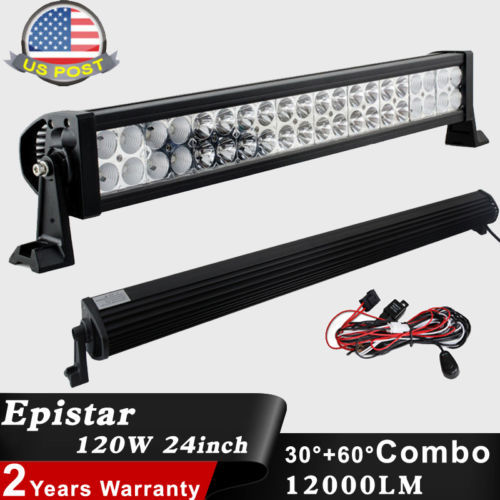 24inch 120W WORK LIGHT BAR Spot Flood Combo LED Lamp Waterproof Offroad for Truck SUV Boat 4X4 4WD ATV UTE Tractor(China (Mainland))