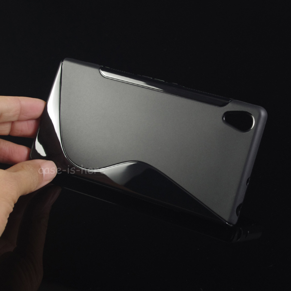 Free Shipping Soft S-Line Wave TPU Gel Cover Case Skin for Sony Xperia Z3V D6708 Verizon(China (Mainland))