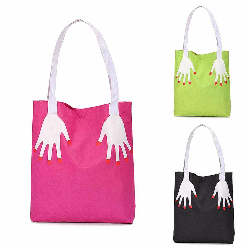 Hot Women Canvas Shopping Bags Hand Printed Pattern Waterproof Ladies Tote Handbag Casual Large Capacity Girl Bag Feminine<br><br>Aliexpress
