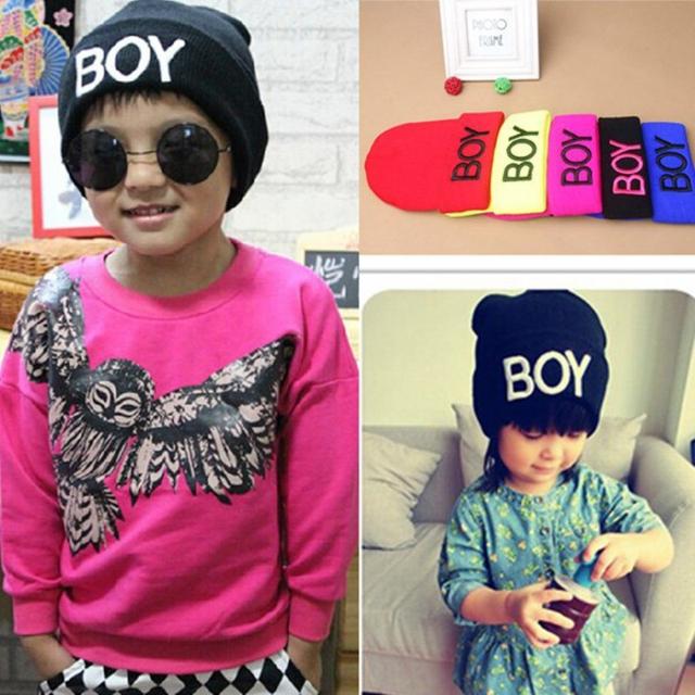Малыш девочка мальчик зима мальчик шлема черепа теплый шапки шерстяные лыжные шапки