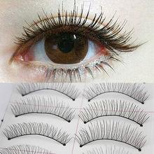 10 Pairs of Women Ladies Makeup Thick  Long False Eyelashes Eye Lashes Long Black Nautral Handmade Makeup Beauty Tools(China (Mainland))