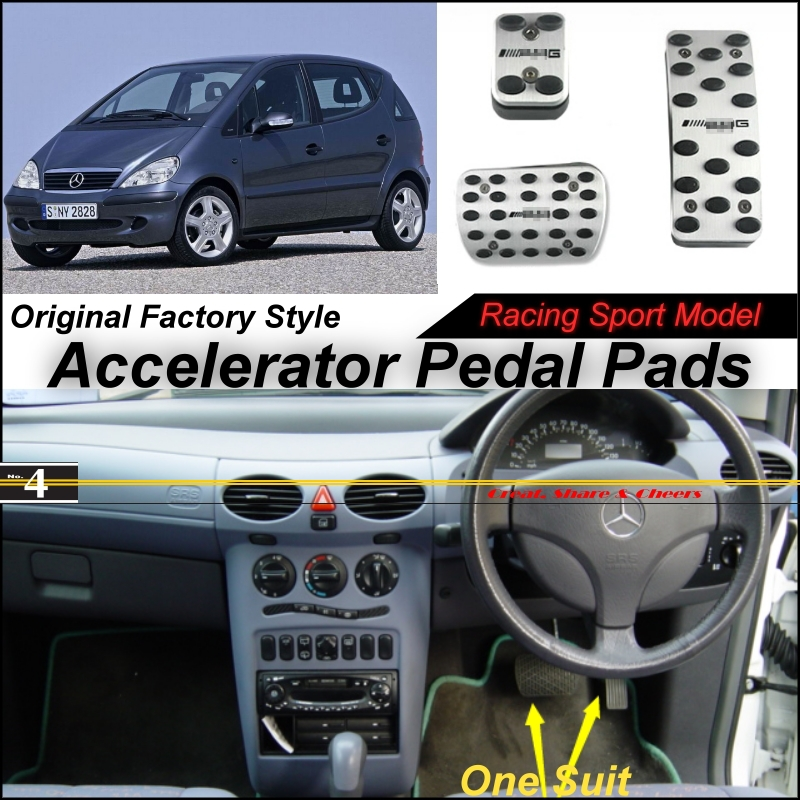 Car Accelerator Pedal Pad / Cover Factory Sport Racing Design Mercedes Benz Class MB W168 AT Foot Throttle - NOVOVISU Store store