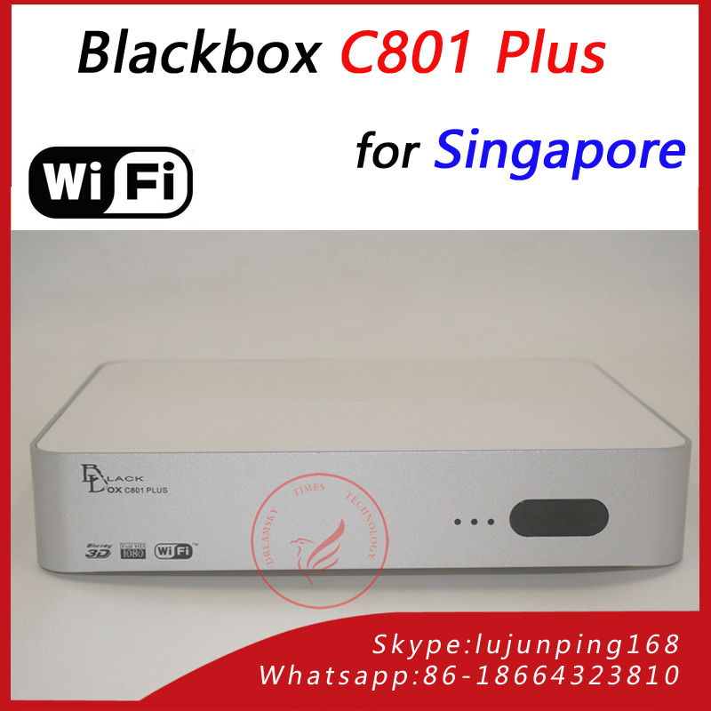 Singapore Blackbox C801 HD cable TV Receiver + wifi adapter, newer than