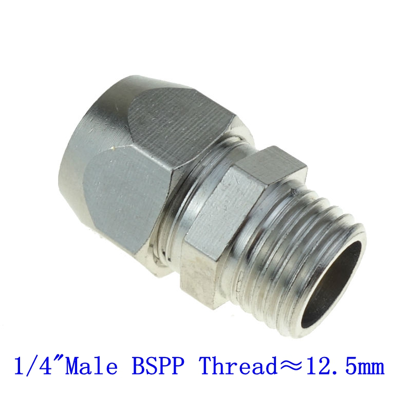 3//8 OD x 1//8 NPT Female Plastic /& Nickel Plated Brass Push to Connect Straight Female Connector Fitting Pack of 2