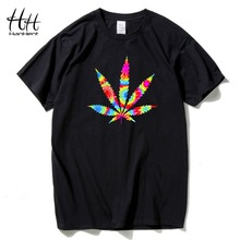 Buy HanHent Leaf T shirt Men Summer O-Neck Cotton Tops Tees Casual Short Sleeve Printed Man's T-shirt Hip Hop Fashion Tshirts for $8.17 in AliExpress store