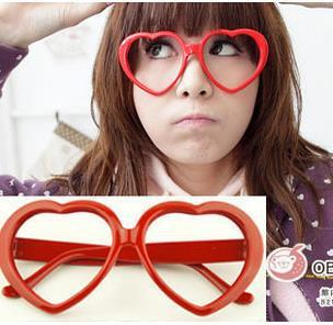 Wholesale New Fashion Hot Heart Glasses Frame Women's Party Eyewear+Free shipping