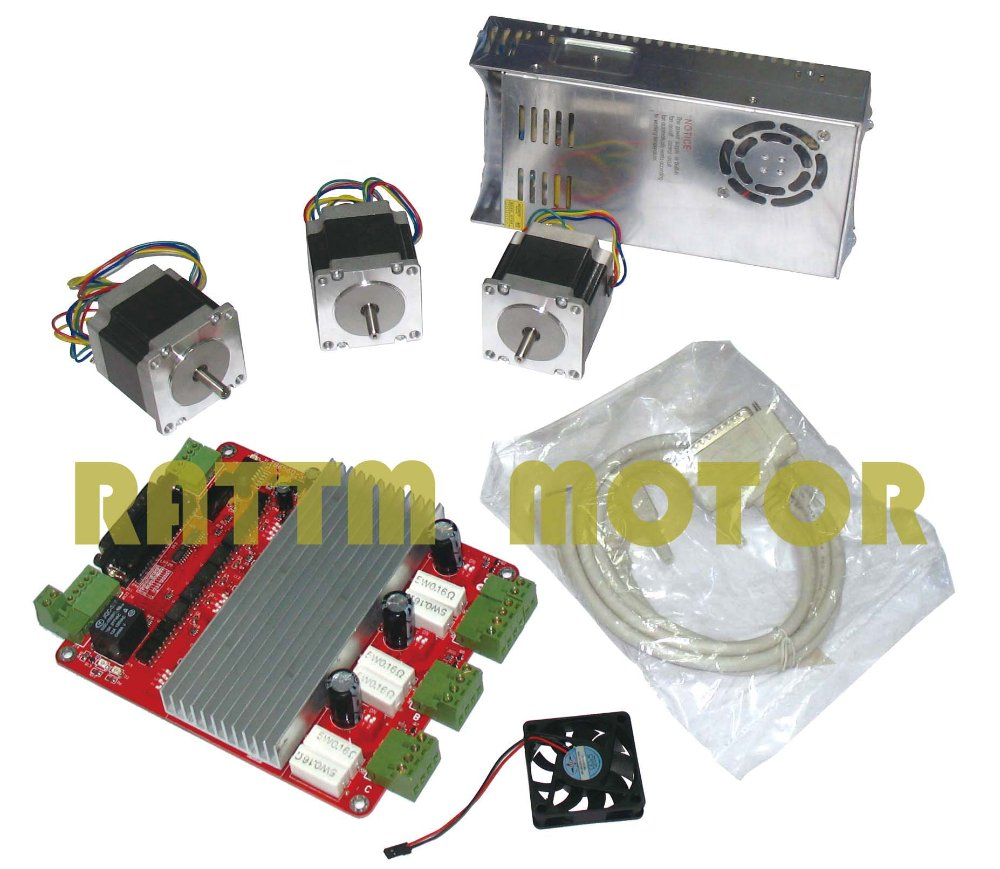 3 axis cnc kit 3 nema23 165 oz in stepper motor 3 axis for 3 axis servo motor kit